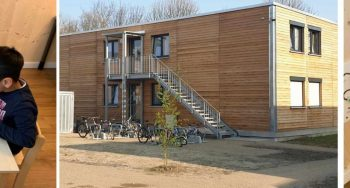 Flüchtlingsunterkunft  Sportfeld Edwards in Berkersheim