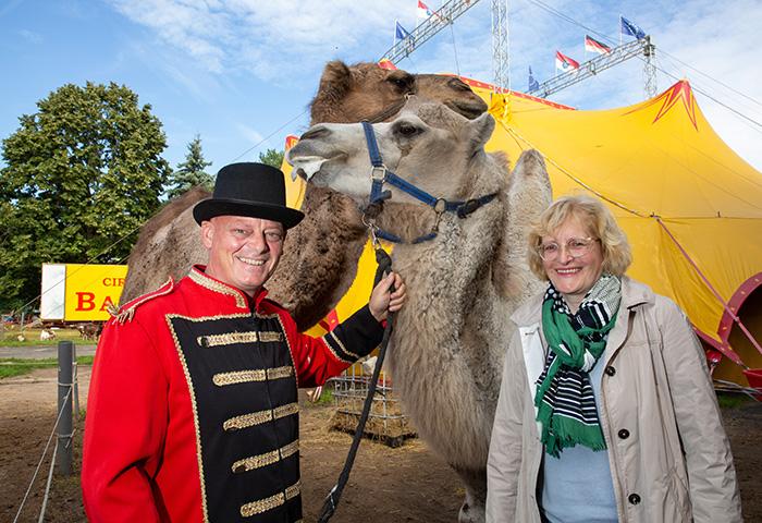 Circus Direktor Marco Frank und Sonja Keil - Foto Rolf Oeser
